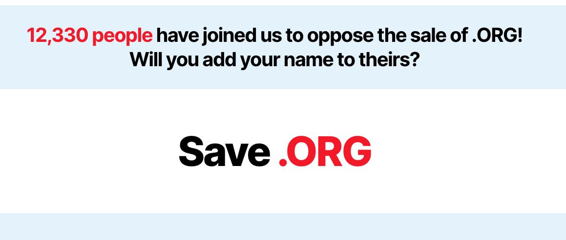 SaveDotOrg: campagna a contro la vendita del registro a un fondo privato